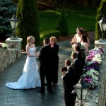 Wedding Ceremony on the Stone Bridge at Tewksbury Country Club