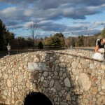 Bride and Groom on the Bridge at Tewksbury Country Club