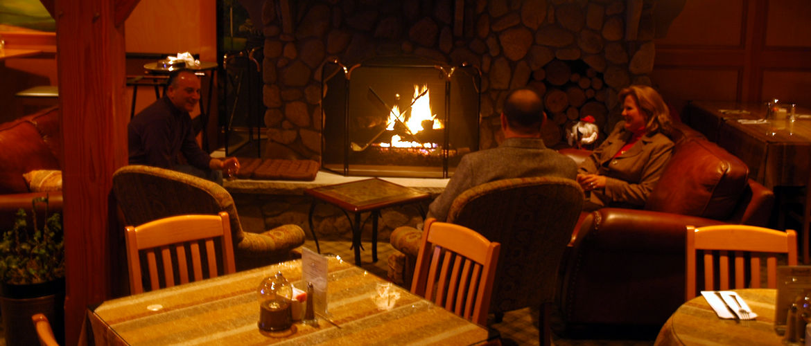 Winter fireside dining at Tew-Mac Tavern