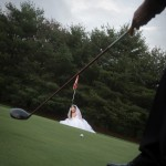 Bride on the Course at Tewksbury Country Club
