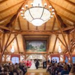 Indoor Wedding Ceremony Fireplace